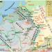 Kaart van de Nederlanden in het jaar 70