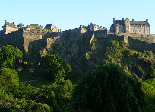 Edinburgh Castle as seen from the North