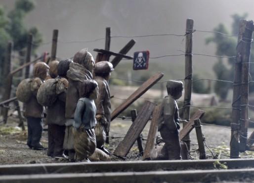 Animatie van de Dodendraad uit 'Kleine handen in een grote oorlog'